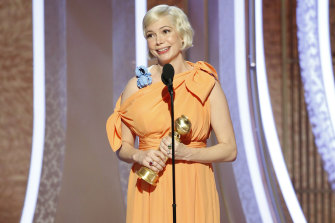Michelle Williams delivered a powerful call to action while accepting the award for best actress in a limited series or TV movie for her role in Fosse/Verdon.