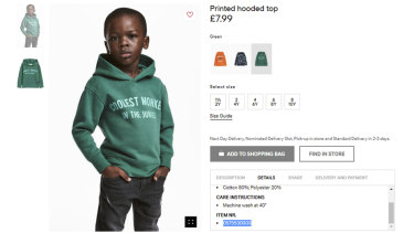 H&M came under fire in January over a photo of a black child wearing a hoodie with the slogan, 'Coolest monkey in the jungle'.