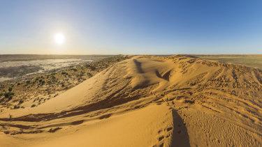 The Big Red sand dune in the Simpson Desert near Birdsville.