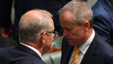 Scott Morrison and Bill Shorten.