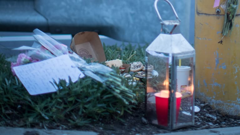 Flowers and candles were left at the scene of a tragic hit-run accident in Melbourne's east.