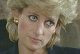 Diana, Princess of Wales during BBC's Panorama interview in 1995.