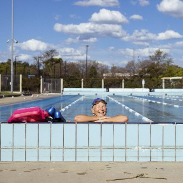 Cathy Chianese enjoys a swim at Granville Swimming Centre.