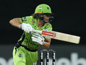 Sydney Thunder batter Phoebe Litchfield was unable to get going against the Strikers.