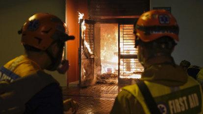 Coronavirus fears boil over on the streets of Hong Kong