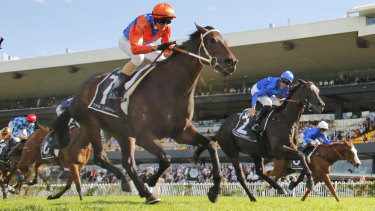 Think It Over takes out the  George Ryder Stakes. at Rosehill last month
