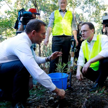 As environment minister, Greg Hunt (right) persuaded Tony Abbott not to oppose climate science publicly.