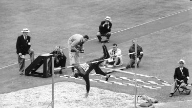 """The 1956 Olympic high jump event went late into the evening with Australian Charles """"Chilla"""" Porter claiming the silver medal."""