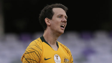 Picture of frustration: Robbie Kruse's face says it all.