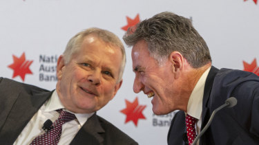 Newly appointed NAB CEO Ross McEwan (right) with chairman-elect, Philip Chronican.