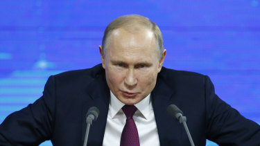 US Russian President Vladimir Putin.