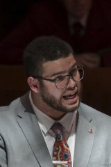 Greens senator Jordon Steele-John, 26, is the youngest person in federal Parliament.