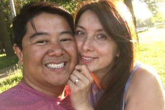 Sydney man Gordon Chan with his fiancee,Svetlana Chernykh, who has a visa to come to Australia to marry Mr Chan but has been repeatedly denied travel exemptions.