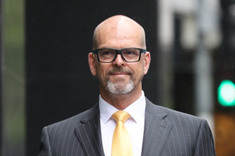 Former police chief commissioner Simon Overland pictured before testifying to the royal commission last year.