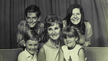 June Dally-Watkins with children Carel, Timothy, Marc and Lisa in 1967.