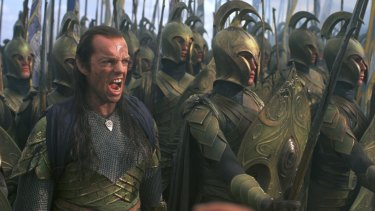 Hugo Weaving as Elf Lord Elrong in The Fellowship of the Ring.
