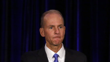 """Boeing CEO Dennis Muilenburg says his team is """"laser-focused on returning the 737 MAX safely to service""""."""