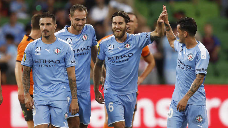 City edge Brisbane to go clear second on table