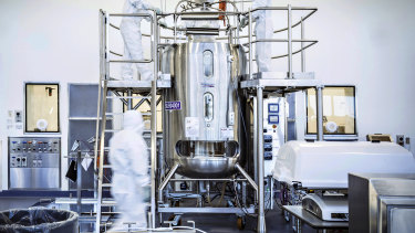 CSL's Broadmeadows laboratory, where AstraZeneca's vaccine is being made.