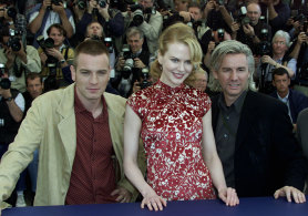 Twenty years ago: director Baz Luhrmann with Nicole Kidman and Ewan McGregor at the Cannes Film Festival in 2001.