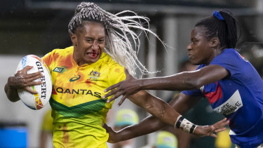 Ellia Green in the bronze playoff against France on Sunday night.