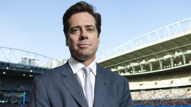 Committed to the cause: AFL chief Gillon McLachlan.
