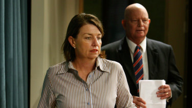 Then-premier Anna Bligh and Warren Pitt, who served as local government minister in her cabinet, pictured in 2007.