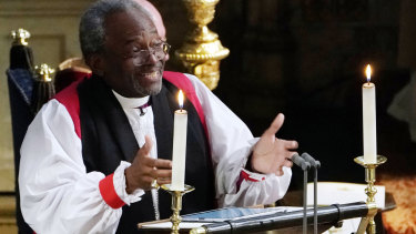 The Most Rev Bishop Michael Curry, primate of the Episcopal Church, gave an electrifying sermon.