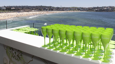 Guests at Icebergs were served free-flowing Perrier Jouet Champagne.