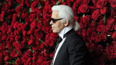 Karl Lagerfeld attends the Museum of Modern Art Film Benefit tribute to Pedro Almodovar in 2011 in New York.