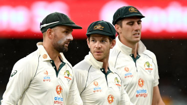 Tim Paine (centre) and Australia have a lot of thinking to do about the future.