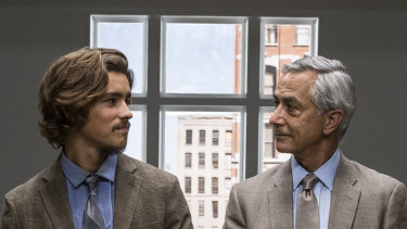 Brenton Thwaites and David Strathairn in An Interview with God.