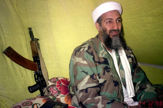 Osama Bin Laden, the late al-Qaeda leader, in mountains of Helmand province in southern Afghanistan.