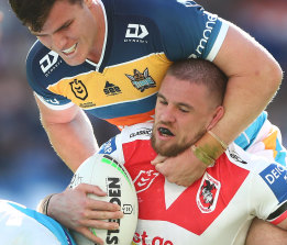 The Dragons' fullback last played against the Titans in round 19.