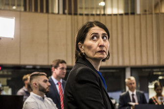 NSW Premier Gladys Berejiklian at the State Emergency Operations Centre.