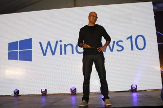 Microsoft's CEO Satya Nadella. The flaw affects Microsoft's Windows 10 operating system.