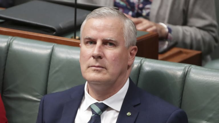 Nationals leader Michael McCormack said he was not phased by the Anyone But Nats.