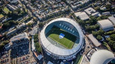 Allianz Stadium at Moore Park, awaiting the bulldozers.