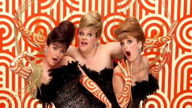The Fabulous Singlettes: Naomi Eyers, Melissa Langton and Gina Horgan.