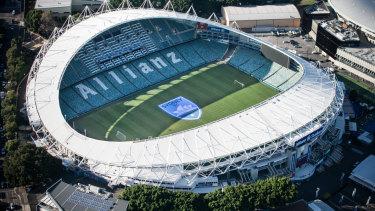 The Sydney Football Stadium, most recently known as Allianz Stadium.