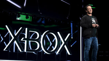 Phil Spencer, head of Xbox, at the briefing ahead of E3.