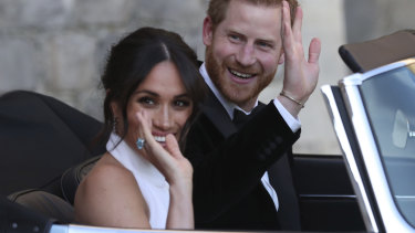 "Designer Stella McCartney wanted to bring out Markle's ""human side"" in the dress."