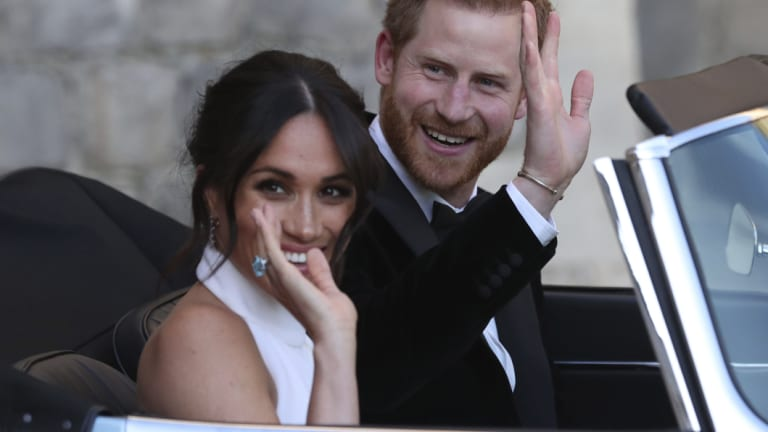 """Designer Stella McCartney wanted to bring out Markle's """"human side"""" in the dress."""