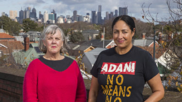 Helen Gaynor (left) has made a documentary about Alex Bhathal's eventful campaign for the Batman by-election in 2018.