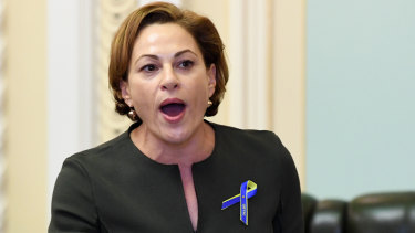 Jackie Trad has slammed a report in The Sunday Mail that claimed she was going to 'parachute' into a safer seat.