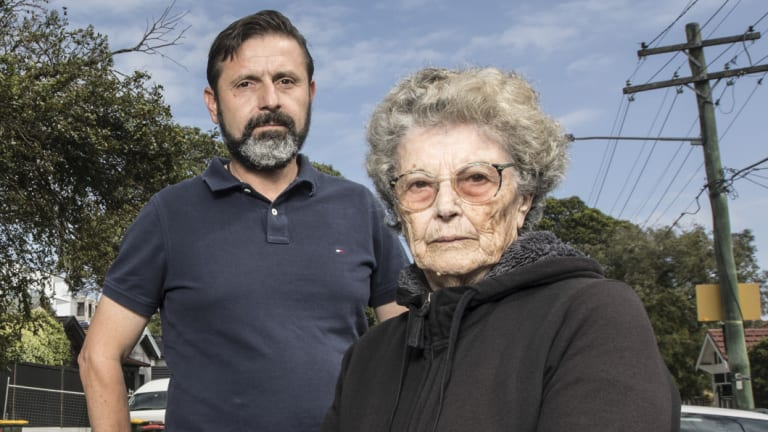 Dimitrios Hatzitoulousis and Maria Frangakis two of only hand full of people who are left in Eurimbla Avenue, Randwick.