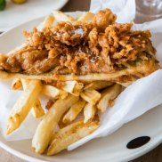 Josh Niland's fish and chips.