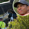Tiger Woods posts photo of himself on crutches, says rehab is 'coming along'