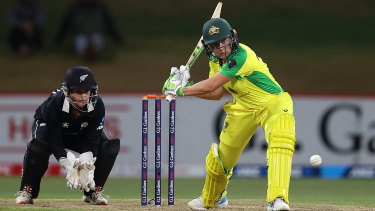 Alyssa Healy top-scored for Australia with 46 from 39 balls.