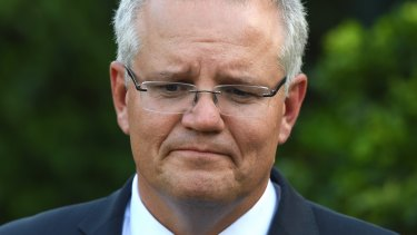 Prime Minister Scott Morrison speaks to the media in Sydney.